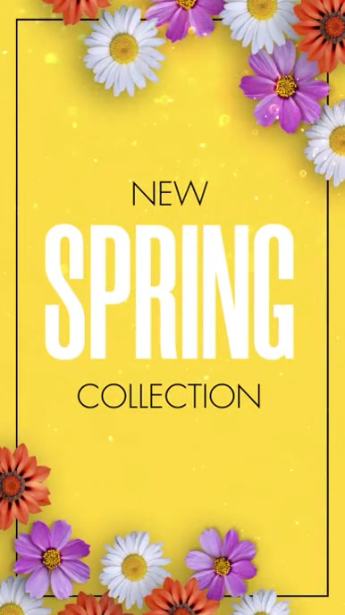 New Spring Collection Vertical Video Display Tampilan Digital (9:16) template