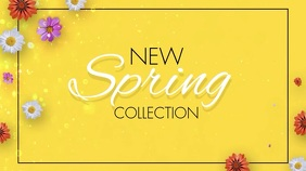 New Spring Collection Video Display Pantalla Digital (16:9) template