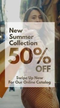 New Summer Collection sale instagram story Instagram-verhaal template