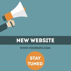 New website coming soon video template 方形(1:1)