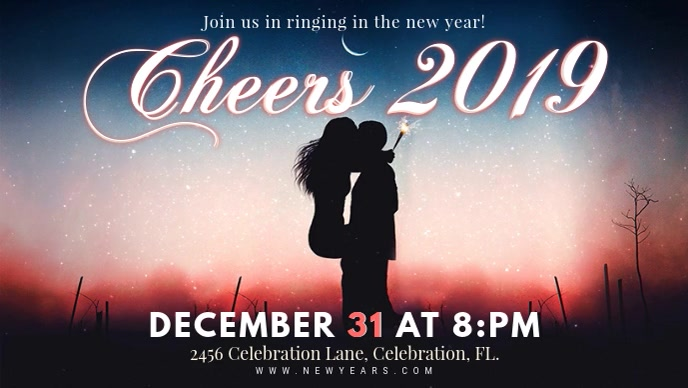 new years celebration 2019 party invitation banner