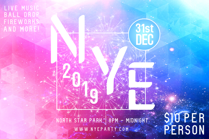 New Year's Eve 2018 Party Poster