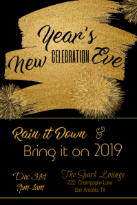 New Year's Eve Celebration Poster Template