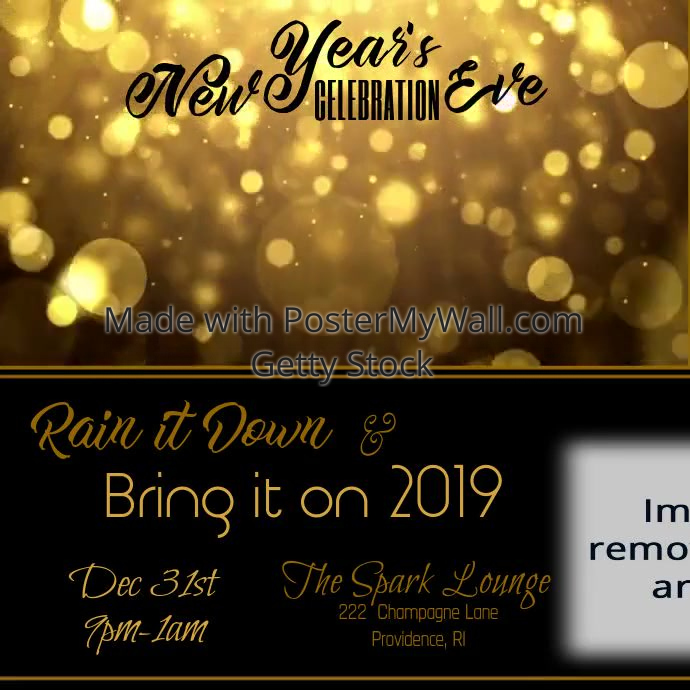 new years eve celebration video customize template