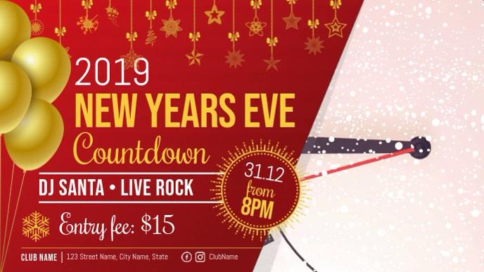 New Year's Eve Countdown Digital Display Video Template