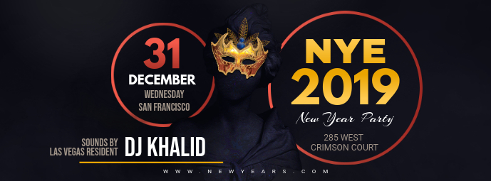 New Year's Eve DJ Night Invitation Banner
