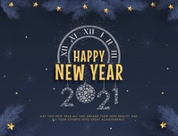New Year's Eve Greeting Card Flyer (Letter pang-US) template