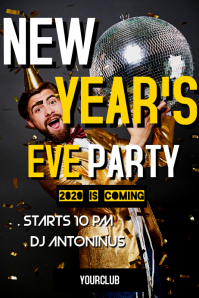 New year's eve party advertisement poster