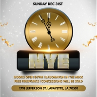 NEW YEAR'S EVE PARTY CHURCH FLYER TEMPLATE
