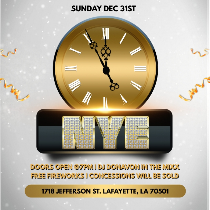 NEW YEAR'S EVE PARTY CHURCH FLYER TEMPLATE Sampul Album