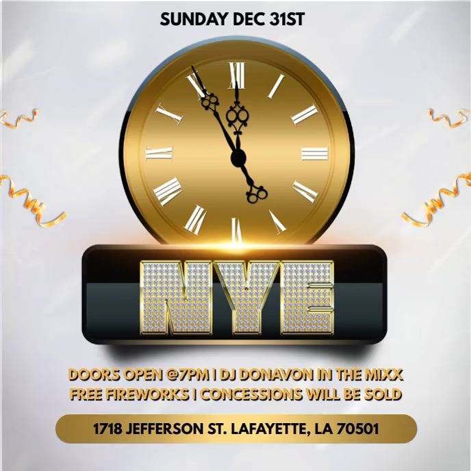 NEW YEAR'S EVE PARTY CHURCH FLYER TEMPLATE Album Cover