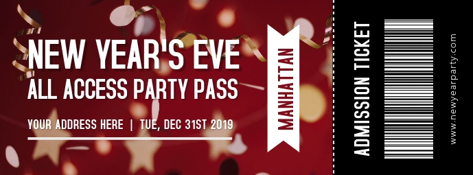 New Year's Eve Party Ticket 2