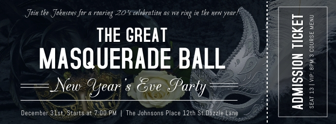 New Year's Eve Party Ticket 3