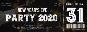 New Year's Eve Party Ticket 5 Facebook Cover Photo template