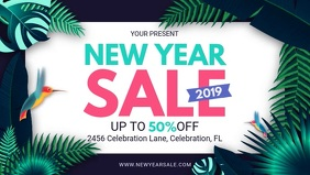 Aesthetic New Year's Sale Retail Banner