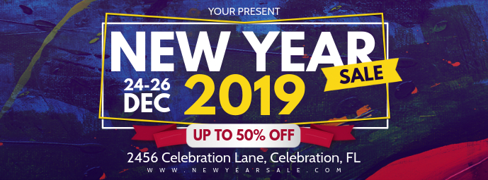 New Year's Eve Retail Shopping Banner