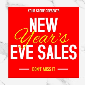 New year's eve sales advertisement