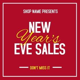 New year's eve sales instagram post advertise