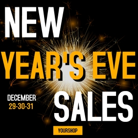 New year's eve sales instagram post