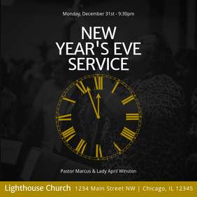 New Year's Eve Service Instagram Plasing template