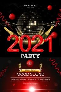 New Year's Party Poster Template Plakat