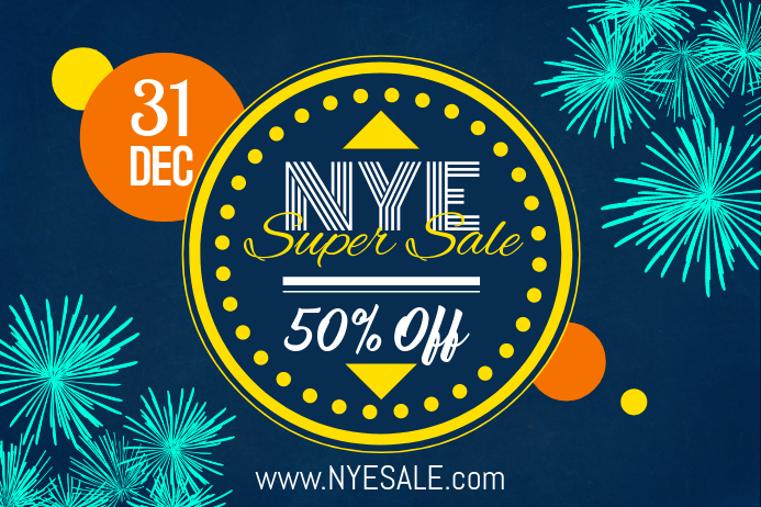 New Year's Sale Poster Design