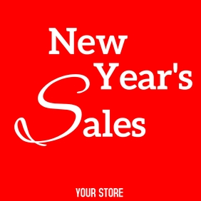 New year's sales advertisement