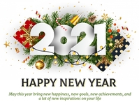 new year, happy new year Pamflet (Letter AS) template