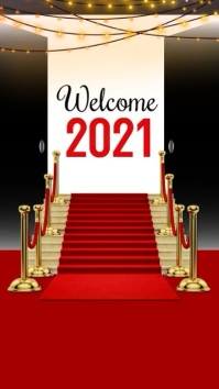 New Year, New Year 2021 Pantalla Digital (9:16) template