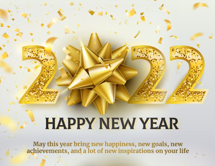 new year,2021,new year wishes Pamflet (Letter AS) template
