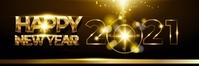 new year,2021 Spanduk 2' × 6' template