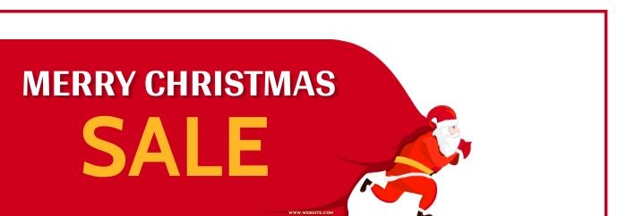 New year,Christmas,Christmas sale Spanduk Tumblr template