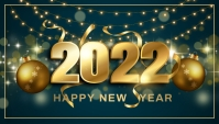 New year,event party Header Blog template
