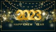 New year,event party Encabezado de blog template