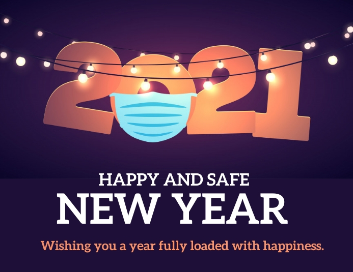 New year ,2021 Flyer (Letter pang-US) template
