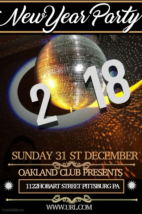 new year poster template,event flyer