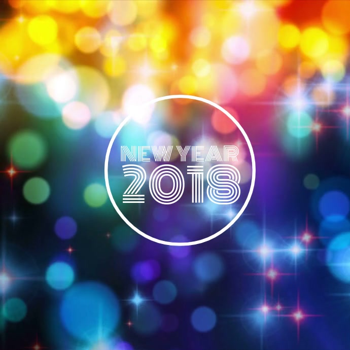New Year 2018. Customize Template