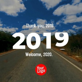 New Year 2019 2020 video template Square (1:1)