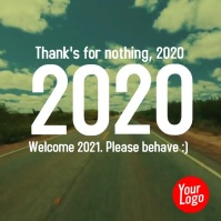 New Year 2020 2021 numbers animation video Vierkant (1:1) template