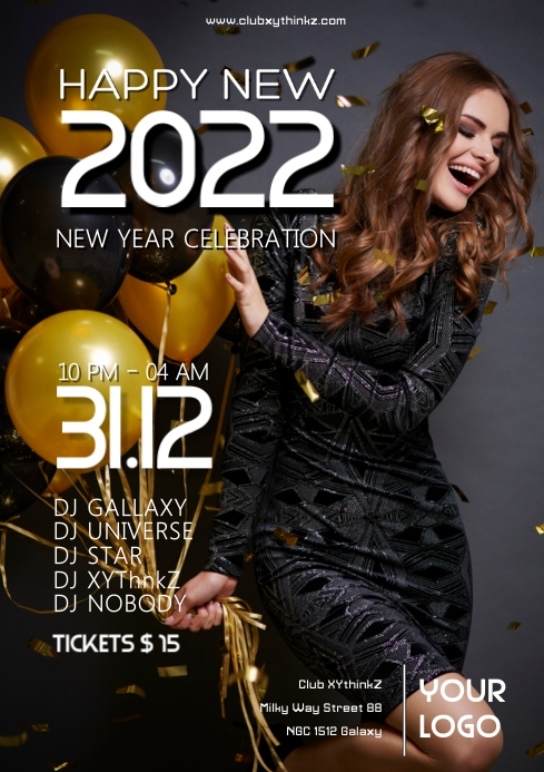 New Year 2020 Celebration Party Event Advert