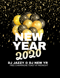 New Year 2020 Flyer (US Letter) template