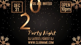 New Year 2020 Party Digital Template