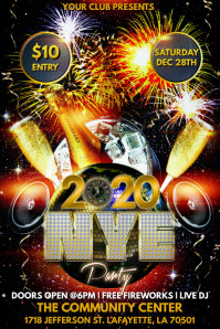 NEW YEAR 2020 PARTY FLYER TEMPLATE