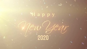 New year 2020 Poster template