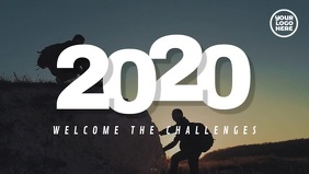 New Year 2020 Welcome The Challenges Facebook Cover Video (16:9) template