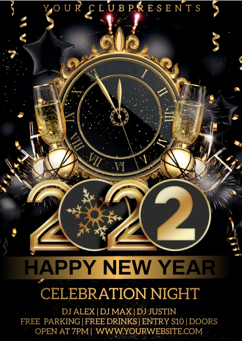New year 2021 A6 template