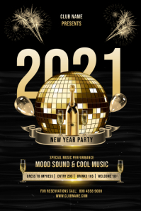 NEW YEAR 2021 PARTY FLYER Plakkaat template