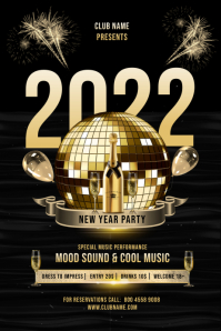 NEW YEAR 2022 PARTY FLYER
