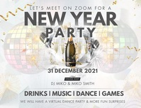 New Year Advertisement Banner Flyer (Letter pang-US) template