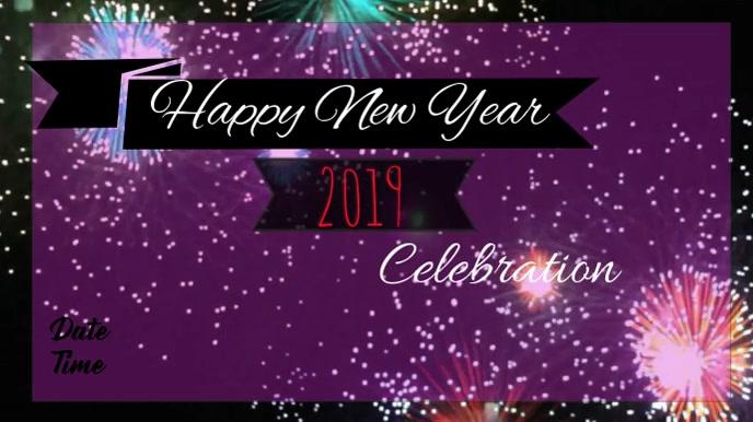 New Year Banner Digital na Display (16:9) template